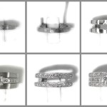 Making a diamond set double wedding ring.