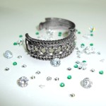 Ladies Diamond & Emeald Dress Ring 2