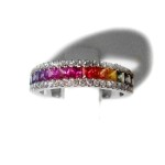 Multi coloured Sapphire & Diamond Ring