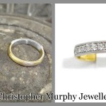 The new band was made using the customers Mothers wedding ring