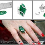 Making a large emerald & diamond ring