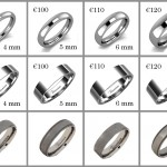 Please click on the image for prices. Our range of Titanium rings can be made in various widths from 3mm to 10mm.   Flat or curved profile, mirror or matt, with or without the millgrain edge.   Any combination of finish is available at no extra price.