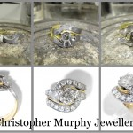 Making a diamond twist engagement ring & double wedding ring.