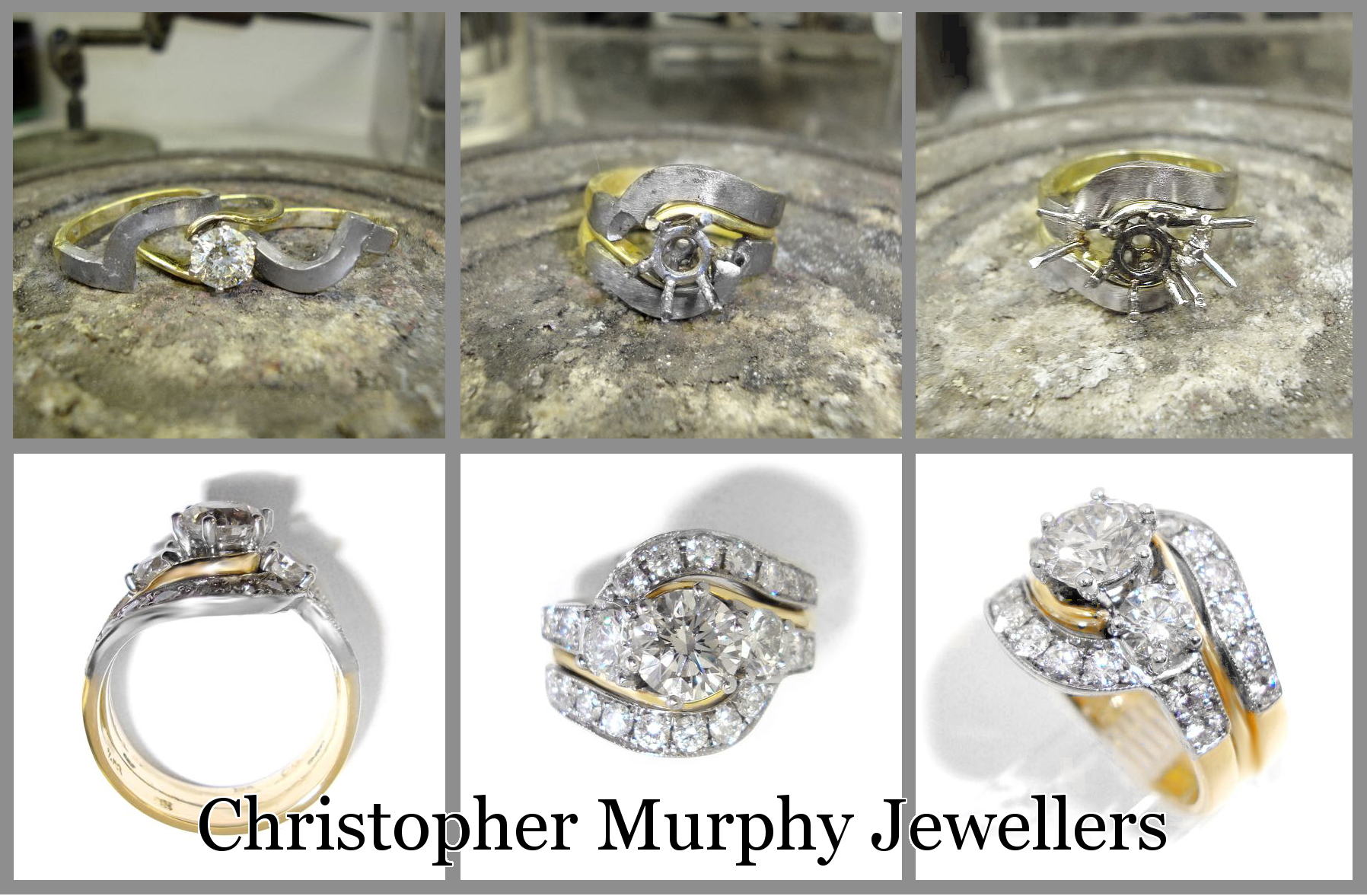 Making A Diamond Twist Engagement Ring U0026 Double Wedding Ring.