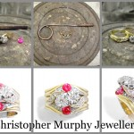Making and rebuilding the diamond twist engagement ring & double wedding ring using the customers own rubies