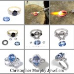 Making a sapphire and diamond engagement ring