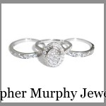 The engagement ring and double wedding ring are fused together
