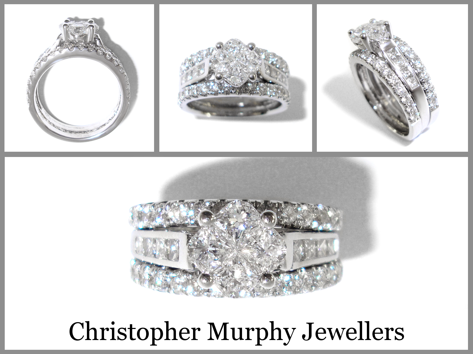 double wedding rings christopher murphy jewellers With double wedding rings