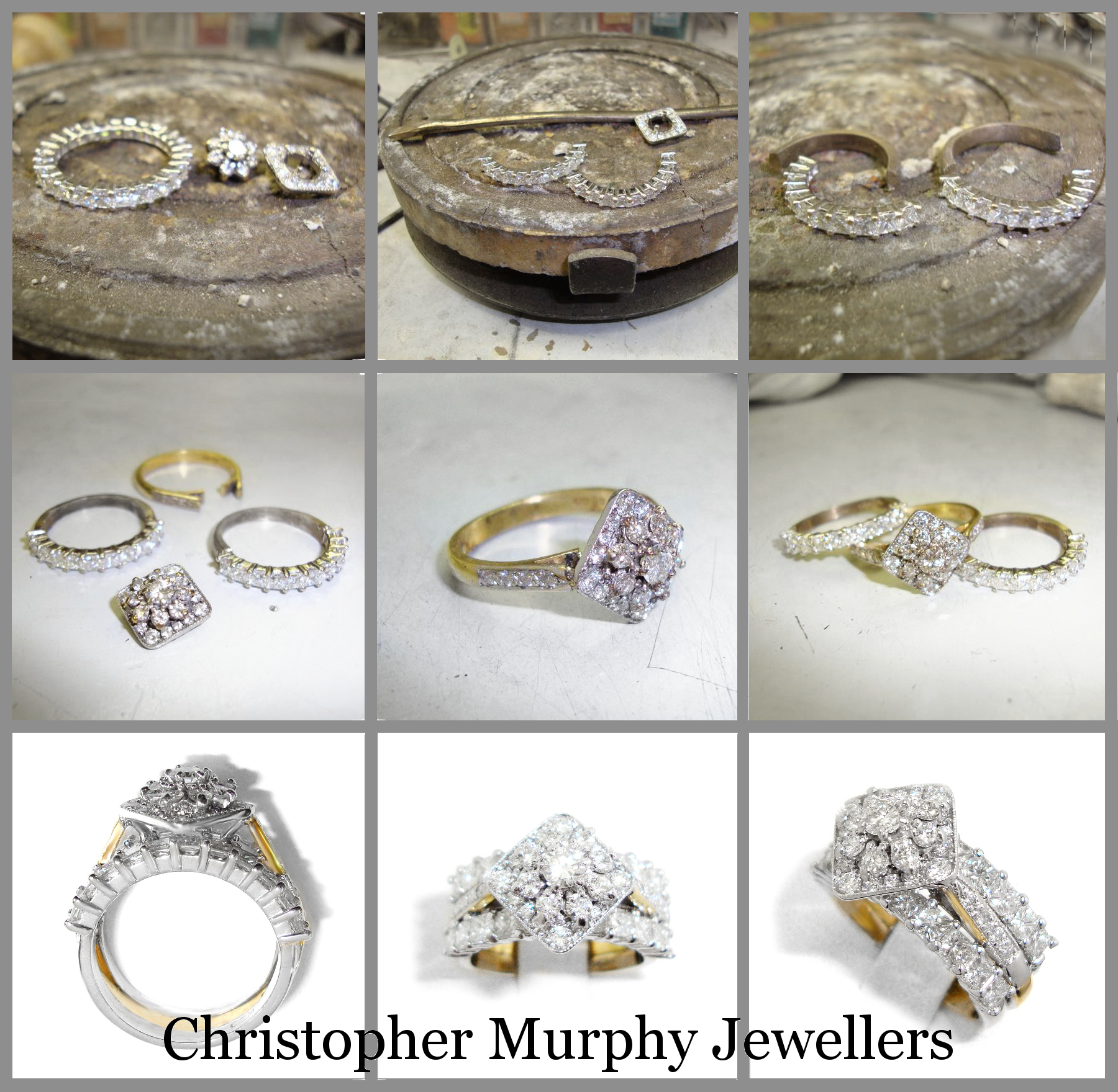 The Customers Full Eternity Ring Was Made Into A Double Wedding And Halo