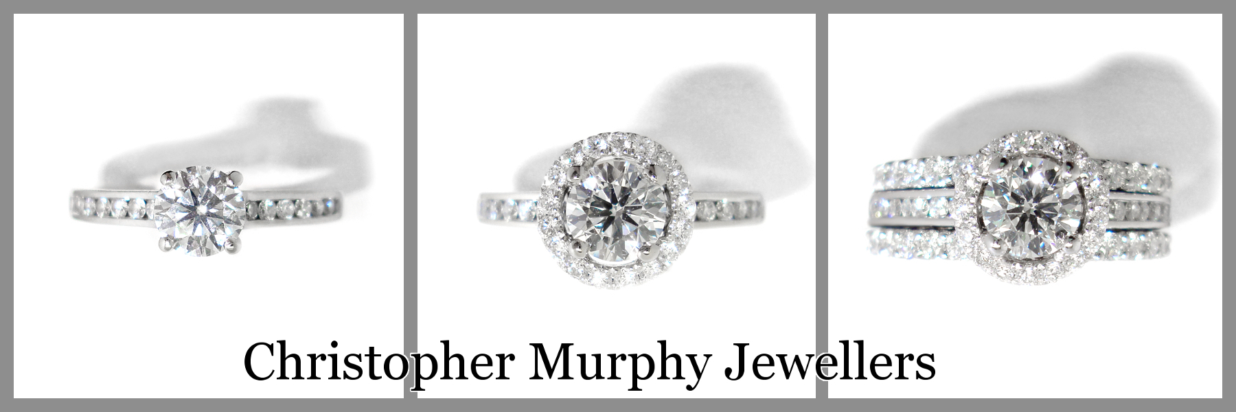 A Halo Of Diamonds Was Added To The Engagement Ring Followed By Custom Made